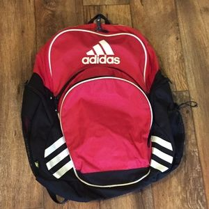 Adidas Load Spring Large Backpack Red Black White